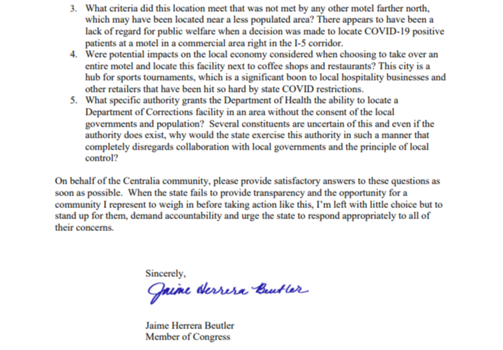 Letter to Inslee 2